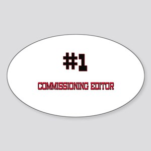 Number 1 COMMISSIONING EDITOR Oval Sticker