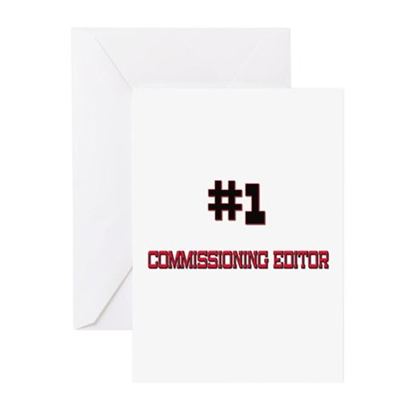 Number 1 COMMISSIONING EDITOR Greeting Cards (Pk o