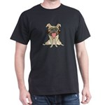 Black/Green/Red/Navy Pug T-Shirt