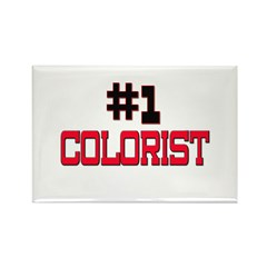 Number 1 COLORIST Rectangle Magnet