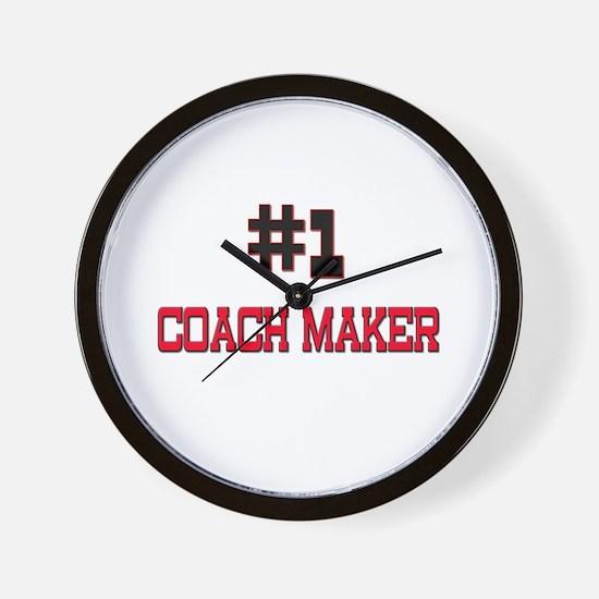 Number 1 COACH MAKER Wall Clock