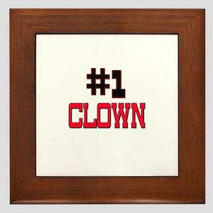 Number 1 CLOWN Framed Tile