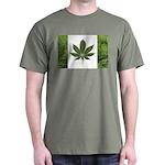 Legalize Marijuana Cannabis Flag Dark T-Shirt