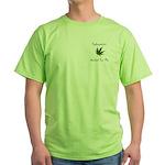 Legalize Marijuana Cannabis Flag Green T-Shirt