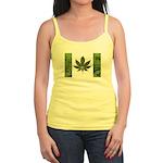 Legalize Marijuana Cannabis Flag Jr. Spaghetti Tan