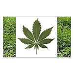 Legalize Marijuana Cannabis Flag Sticker (Rectangl