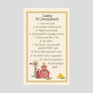 10 Commandments - Farm Rectangle Sticker