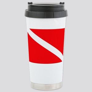 Diver Down Flag Stainless Steel Travel Mug