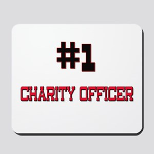 Number 1 CHARITY OFFICER Mousepad