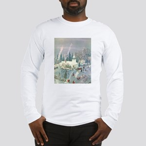 Vintage Christmas Church Long Sleeve T-Shirt