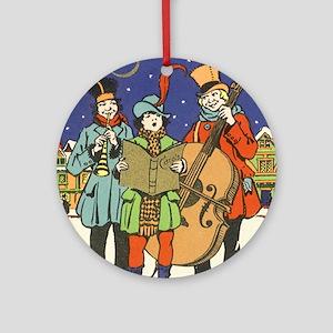 Vintage Christmas Musicians Ornament (Round)