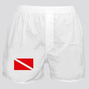 Scuba Diving Boxer Shorts (Diver Down Flag)