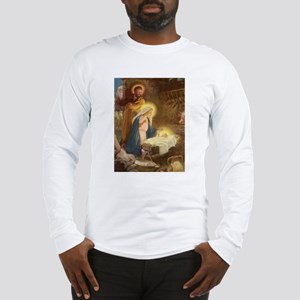 Vintage Christmas Nativity Long Sleeve T-Shirt