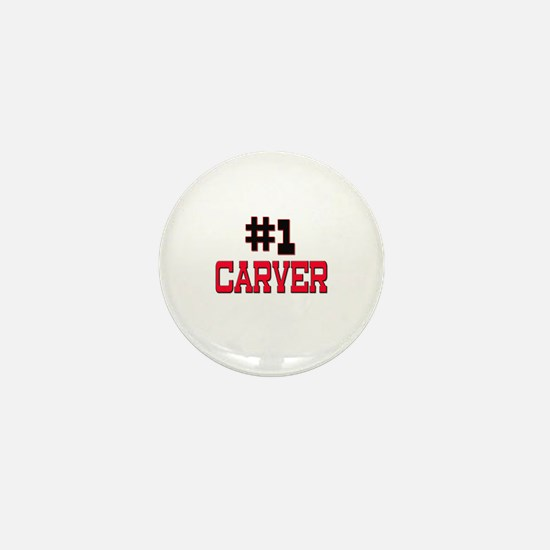 Number 1 CARVER Mini Button