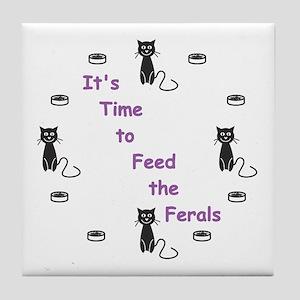 Feral Time Tile Coaster