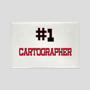 Number 1 CARTOGRAPHER Rectangle Magnet