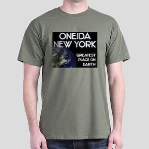 oneida new york - greatest place on earth Dark T-S
