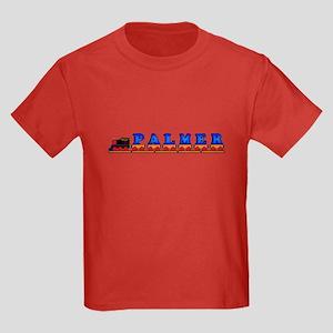 'Palmer' Name Train Kids Dark T-Shirt