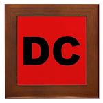 Red DC Framed Tile