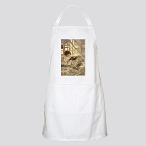 Vintage Books in Winter, Child Reading Apron
