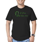Go Green Men's Fitted T-Shirt (dark)