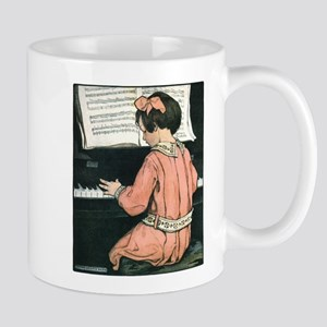 Vintage Child Playing the Piano Mug