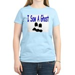 I Saw A Ghost Women's Pink T-Shirt