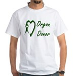 Organ Donor White T-Shirt
