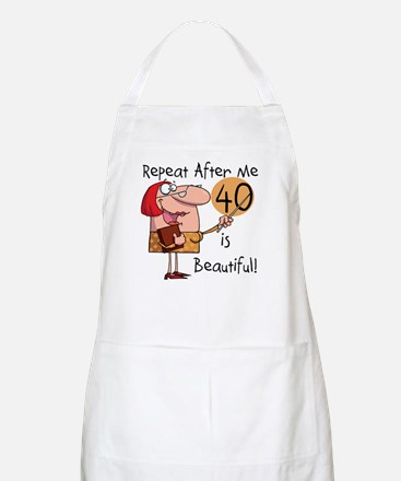 40 is Beautiful BBQ Apron