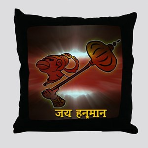 Jai Hanuman Throw Pillow