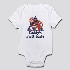 Daddy's First Mate Sailor Infant Bodysuit