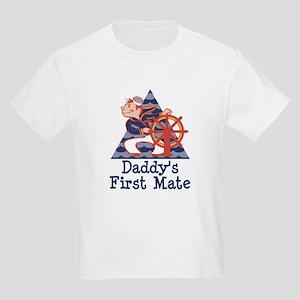 Daddy's First Mate Sailor Kids Light T-Shirt