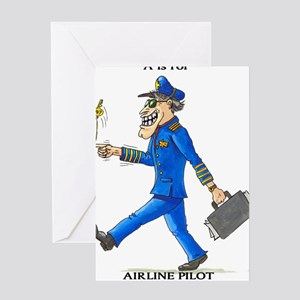 Airline pilot products Greeting Card
