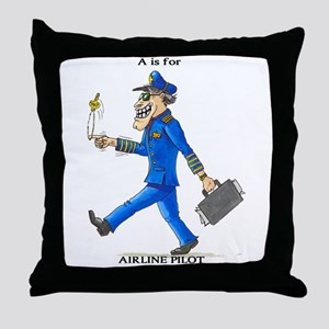Airline pilot products Throw Pillow