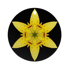 Yellow Lily I Ornament (Round)