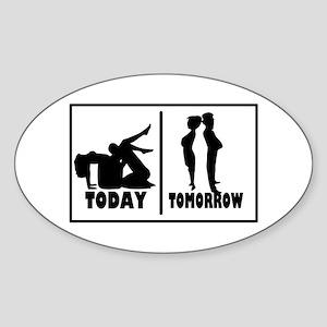 Bachelor Party Oval Sticker