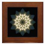 White Lily III Framed Tile