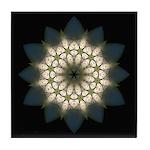 White Lily III Tile Coaster