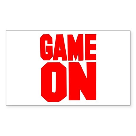 Game on Rectangle Sticker