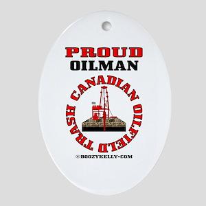 Canadian Oilfield Trash Oval OrnamentOil,Rig