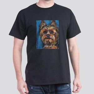 Portrait of a Yorkie Dark T-Shirt
