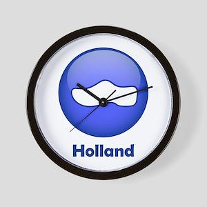 Holland Wooden Shoe Wall Clock
