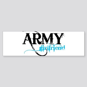 Light Blue Army Girlfriend Bumper Sticker