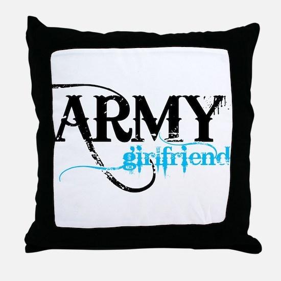 Light Blue Army Girlfriend Throw Pillow