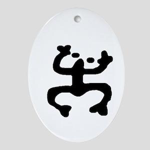 Puerto Rico Coqui Taino Symbol Ornament (Oval)