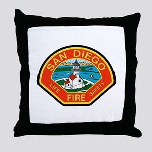 San Diego Fire Department Throw Pillow