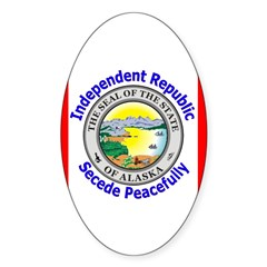 Alaska-5 Oval Sticker (50 pk)