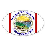 Montana-5 Oval Sticker