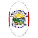 Montana-5 Oval Sticker (50 pk)