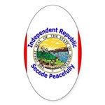 Montana-5 Oval Sticker (10 pk)